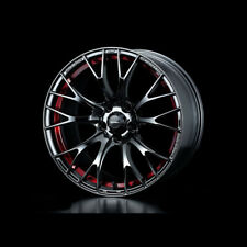 WedsSport SA-20R Alloy Wheel 18x7.5J 5X100 ET45 Chrome Black - Red Detail