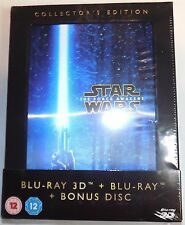 STAR WARS THE FORCE AWAKENS 3D + 2D 3-Disc BLU-RAY Set COLLECTOR'S EDITION VII 7