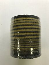 """Yellow/Black Polytape 1/2""""- 5 stainless steel conductors- 200M= 656' New"""