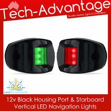 12v Black Housing Port Starboard Vertical Marine Boat LED Navigation Lights