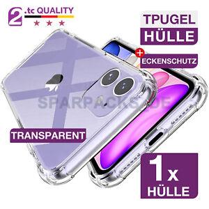 Schutzhülle Silikon Eckenschutz für iPhone transparent 12 11 8 | PRO | MAX XS XR