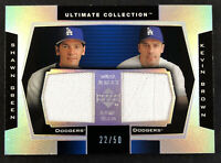 2003 Upper Deck Ultimate Collection Shawn Green Kevin Brown Dual Jersey #22/50