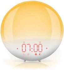 Mpow Wake-up Light Lampada da Comodino Radio Sveglia Simulazione Alba e Tramonto