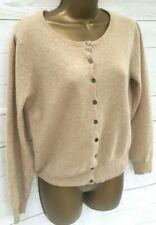 TU 100% Cashmere Jumper Cardigan Button Up Camel Colour - States 18 more like 12