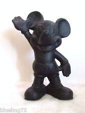 Vintage Cast Iron Black Disney Mickey Mouse Bank Coin Piggy Bank