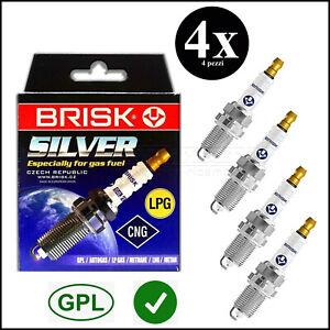 Candele di Accensione Gas Gpl Metano 4 LR17YS-9 Brisk Chevrolet Spark II 2005>10
