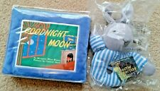 """Goodnight Moon Soft Cloth Bedtime Book + 8"""" Ring Rattle - New - Free Shipping"""