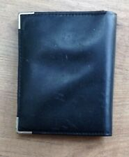 Men's black leather wallet unbranded