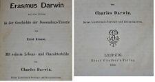 Ernst Krause & Charles Darwin Erasmus Darwin Descendenz-Theorie 1880