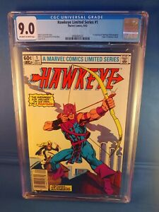 Hawkeye Limited Series #1 Marvel 1983 CGC 9.0 Newsstand Edition