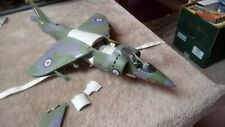 AIRFIX HAWKER HARRIER 1/24 SCALE BUILT SPARES OR REPAIR INCOMPLETE
