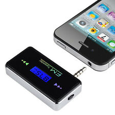 Univers Wireless In-car FM Transmitter 3.5mm Radio Adapter For Phone Samsung HTC
