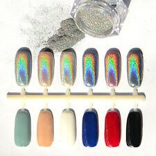 Holographic Nagel Pigment Puder Pulver Mirror Powder Nail Art Chrome Glitter 1g/