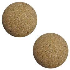 2 Cork Foosballs Natural-Wood Colored Table Soccer Foos Balls