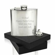 Laser Engraved Personalised Hip Flask- Great Wedding Thank You Gifts, Birthda...