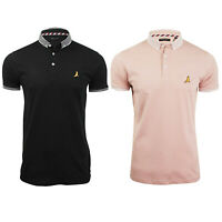 New Mens Brave Soul Polo Causal Plain Slim Fit Short Sleeve T-Shirts Top S M L