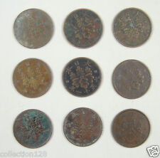 JAPAN Copper Coins A Lot of 9 Pieces 1918-1937 Circulated