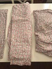 Cuddl Duds Twin 100% Cotton Heavyweight Flannel Sheet Set Pink Cats Kitties