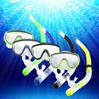 Adult Glass PVC Swimming Swim Diving Scuba Anti-Fog Goggles Mask and Snorkel Set