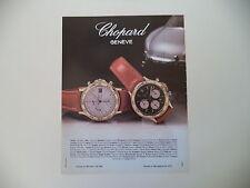 advertising Pubblicità 1989 CHOPARD GENEVE CHRONO ORO 18 CT AUTO/QUARTZ