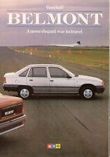 Vauxhall Belmont 1986 UK Market Sales Brochure L GL GLS GLSi Astra