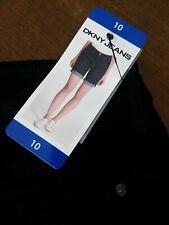 BNWT DKNY Black Jeans Shorts Size 10 Free P&P Hols Winter Sun Tights & Boots