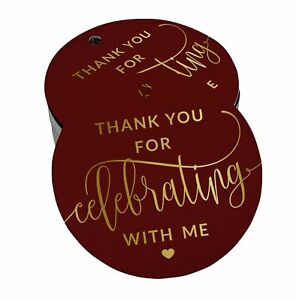 Real Foil Paper HangTags Thank ou For Celebrating Birthday Favor Tags-SH2_28BG