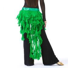 Belly Dance Costume Hip Scarf Waves Tassel Skirt Samba Latin Skate Skirt Wrap US