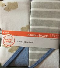 Wonder Nation Baby Boys 2 Pack Hooded Towels NEW Super Cute Bears