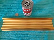 Vintage 60's? Industrial Ribbed Copper Gold 11 1/4 x 1 5/8 Opening Mail Slot