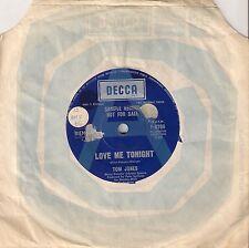 "Tom Jones - Love Me Tonight PROMO 7"" single"