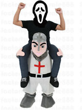 Crusader Knight Mascot Costumes Parade Carry Outfits Dress Piggy Back Cosplay