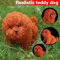 Realistic Teddy Dog Plush Toy Stuffed Animal Soft Pet Doll Kids Cute Gift J2T4