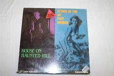 House on Haunted Hill and Attack of 50 foot Woman, Laserdisc, New in Plastic