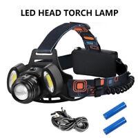 Ricaricabile Torcia Lampada da testa frontale CREE XM-L T6 USB LED COB Luce 600m