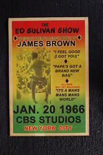 James Brown Poster 1966 Ed Sulivan Show New York City