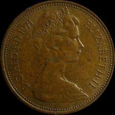 UK COIN Rare 1971 2 New Pence Queen Elizabeth II Circulated Bronze Coin British