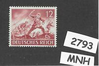 MNH stamp / 1943 /  PF12 + PF08 / Military Wehrmacht Infantry  / WWII Germany