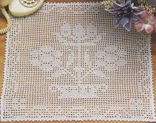 Crochet Pattern ~ Pretty Floral Filet Doily Flower Runner ~ Instructions