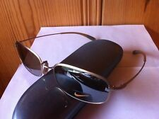 NEW NIKE Reveal I Flash Flexon Sunglasses #757 Matte Gold Frame / Brown Mirror