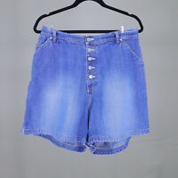 Jean Shorts Denim Button Fly Vintage 90s Carolina Blues Plus Size Womens 18W