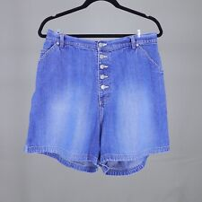 61013ff7e Jean Shorts Denim Button Fly Vintage 90s Carolina Blues Plus Size Womens 18W