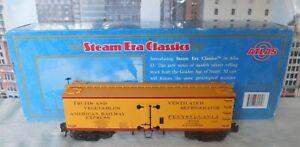 Atlas 8057-4 O-Scale 3-Rail PRR 36' Wood Reefer-American Railway Express LNIB