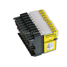 10 amarillo para Brother DCP195C MFC5890CN 490cw DCP145C DCP165C LC980 LC1100 XL