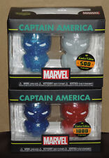 Funko Hikari XS Marvel Captain America 2-Pack (Blue and White) & (Blue and Red)