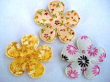 60 Beige/Brown Cotton Floral Print Flower Applique/taupe/trim/Sewing/Craft H338