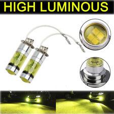 Universal 2PCS H3 100W Fog Light Yellow 2323 LED DRL Projector Lamp Bulb 4300K