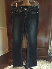 True Religion Jeans Becky Women's Size 30 Inseam 33 Boyfriend Dark Rinse