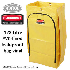 Rubbermaid High Capacity Janitor Trolley Yellow Vinyl Replacement Bag Collection