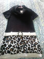 Faded glory girls size M(7/8) dress animal print and black